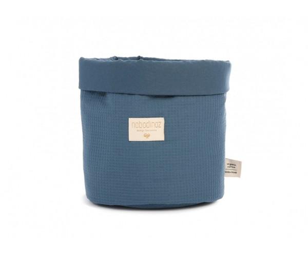 NOBODYNOZ - Panda Basket Small Honey Comb 19X15 Night Blue