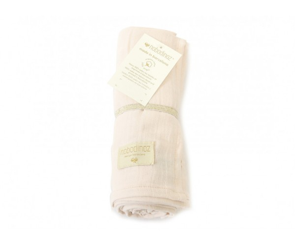 NOBODINOZ - BUTTERFLY SWADDLE 100X120 DREAM PINK