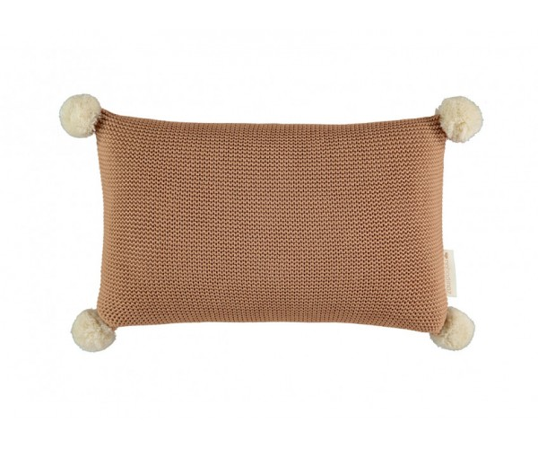 NOBODINOZ - SO NATURAL KNITTED CUSHION 22X35  BISCUIT