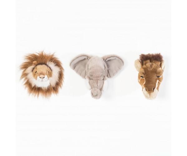 3 Mini Trophées Peluche Safari