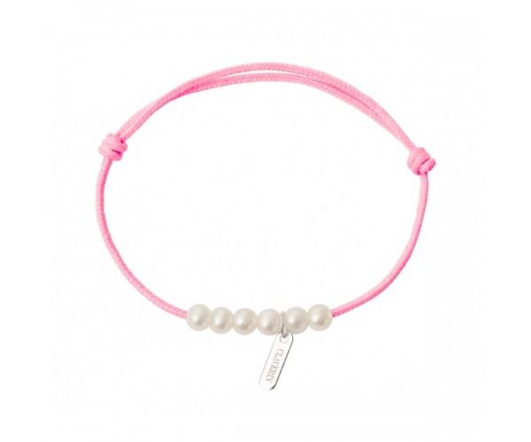 Bracelet Little Treasures 6 Perles blanches - Claverin