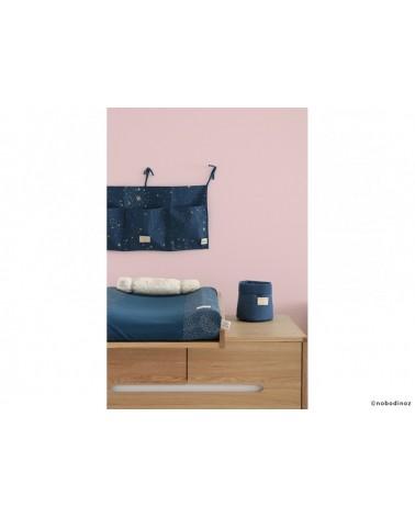 NOBODINOZ - MERLIN CRIB ORGANIZER 30X60 GOLD STELLA / NIGHT BLUE